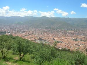My home in Cusco, Peru! Taken from Saqsaywaman, ancient fortress ruins just outside the city, dating back to 1431.