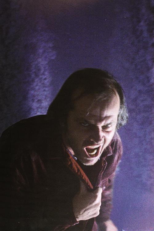 Jack Nicholson in Stanley Kubrick's The Shining. Image via Tumblr user annyskod