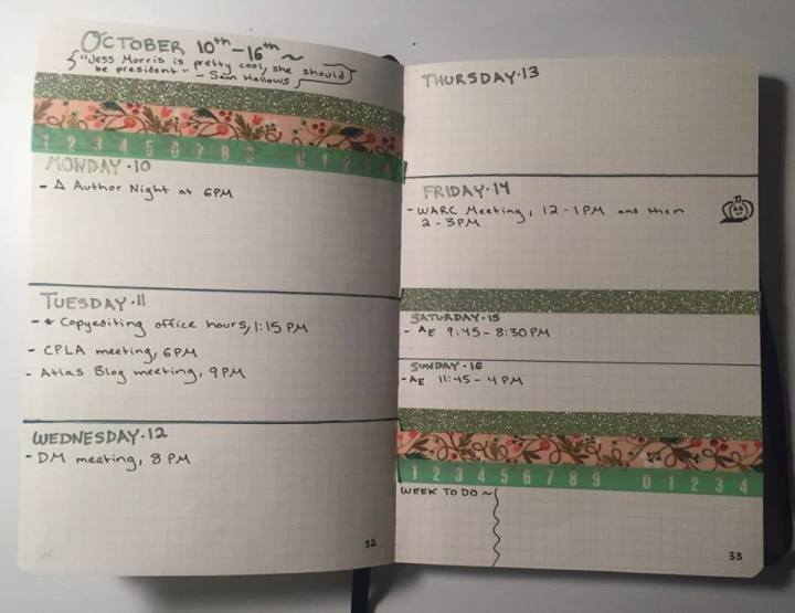 What my weekly spread usually looks like.